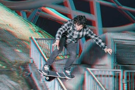 Sebastian Denz Shoots Skateboarding with 3-D Film