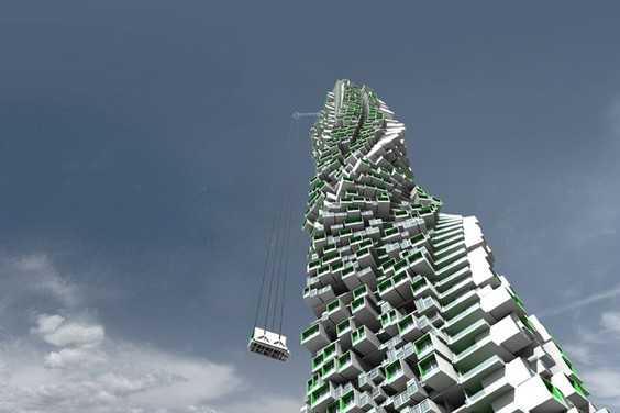 This Modular Tower Concept Looks Like A Giant Jenga