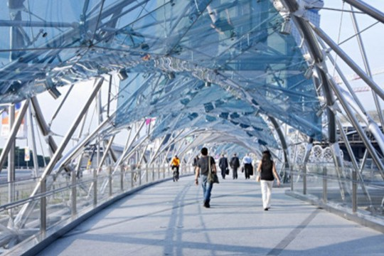 "Marvel At This Beautiful ""Double-Helix"" Bridge"