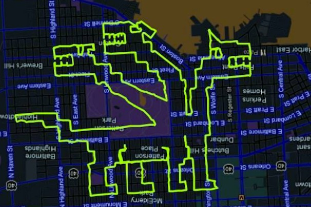 Drawing GPS Pictures By Riding A Bicycle