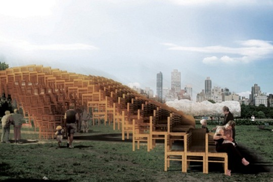 Occupy This SEATed Space: Hundreds Of Chairs Comprise A Sculptural Vortex