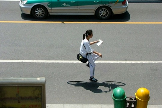 Snapshots Of The Elusive Invisible Bicycle In China