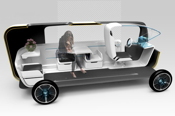 The Cubie Concept Car Makes Shared Transportation More Tolerable