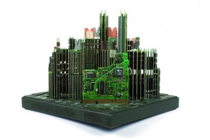 Old Computer Parts Are Transformed Into Stunning Cityscapes And Skylines