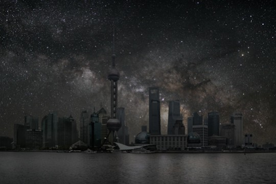 The World's Cities Shrouded In Darkness But Lit By Stars