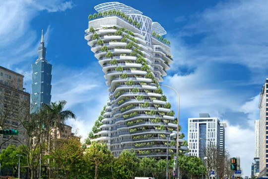 Double-Helix Skyscraper Aims To Give Residents An Eco-Friendly Lifestyle