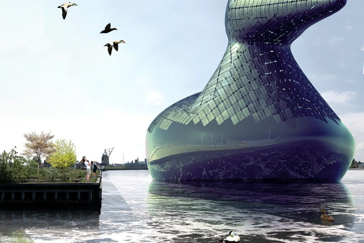 A Duck-Shaped Solar Pavilion Could Help Power Copenhagen