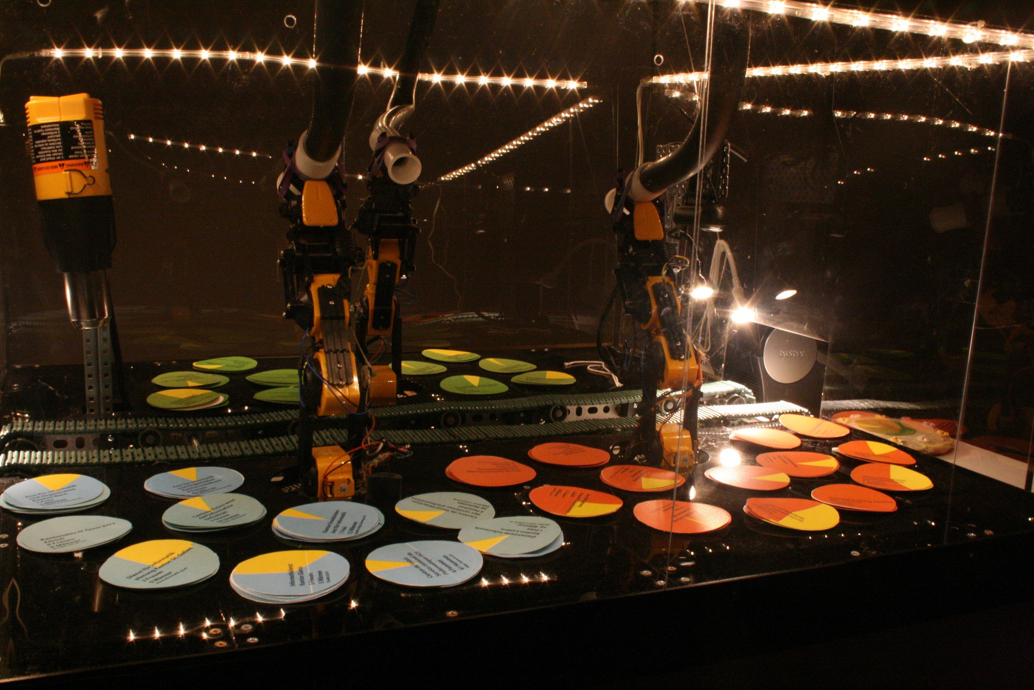 A Robot That Puts Pie Charts Onto Actual Pies