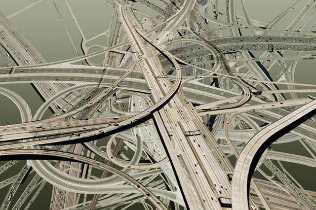 These Tangled, Digitally-Altered Road Junctions Will Make Your Head Spin
