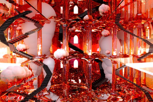 Explore Psychedelic 3D Chambers Inspired By Video Games Like 'Diablo'