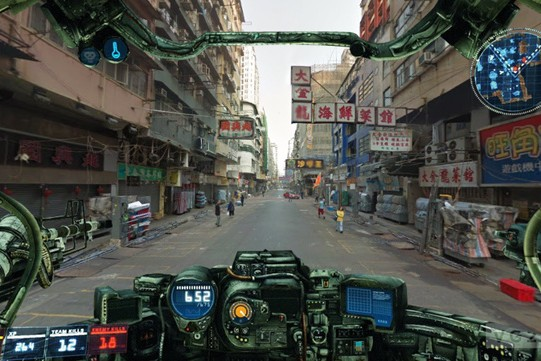 Jonathan Zawada Brings You Google Street View Through A MechWarrior HUD