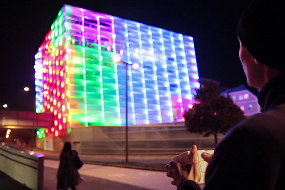 How A Building Turned Into An Illuminated Rubik's Cube
