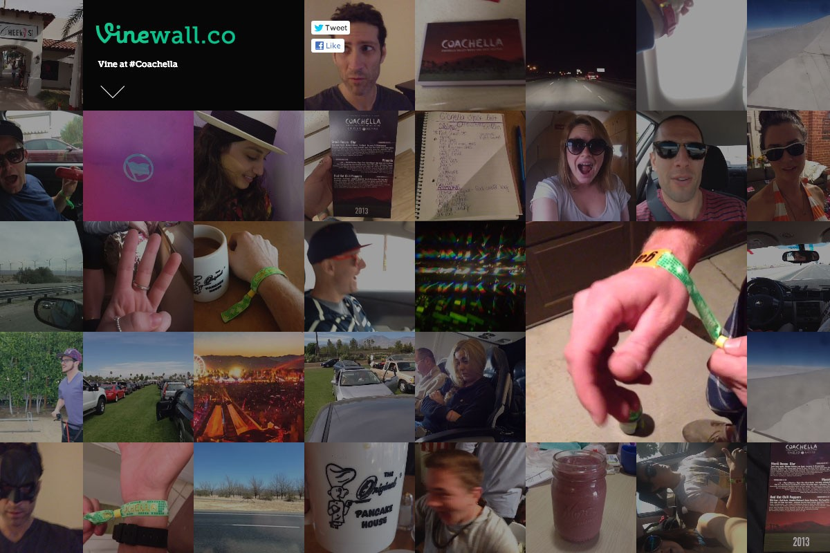 Can't Make It To Coachella? No Worries, Experience It Through Vine Wall Instead