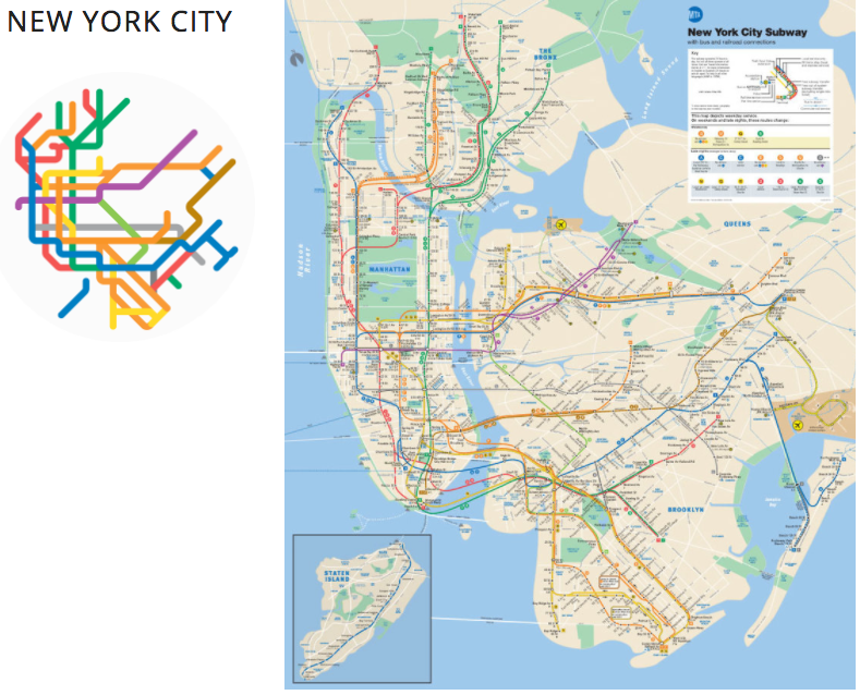 Artist Creates Simple Beautiful Subway Maps For 100