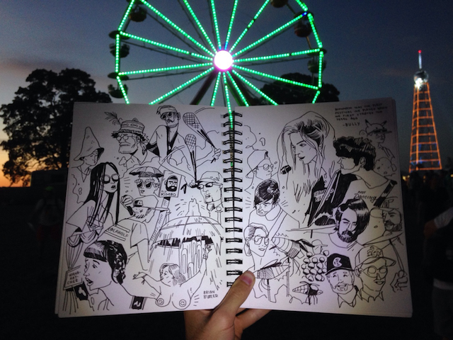 Illustrator Brian Butler Sketches Concertgoers Mid-Show