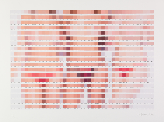 Nick Smith, Three not so Graces, 779 color chip collage. Image courtesy of the artist.