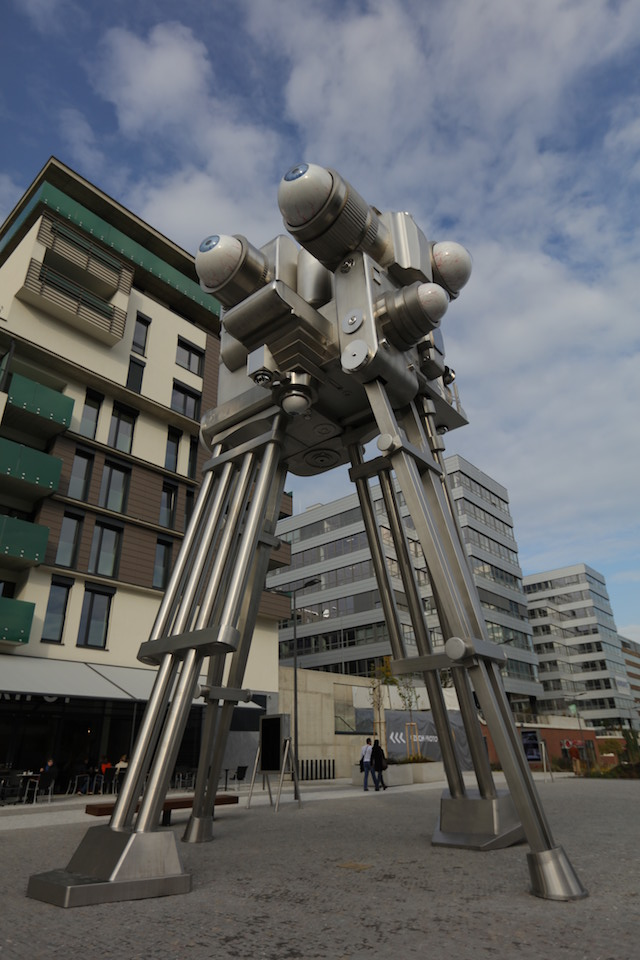 In Prague Giant Robot Sculpture Watches You The