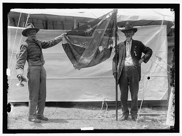 Flags confederate reunion by harris amp ewing 1917 image courtesy the