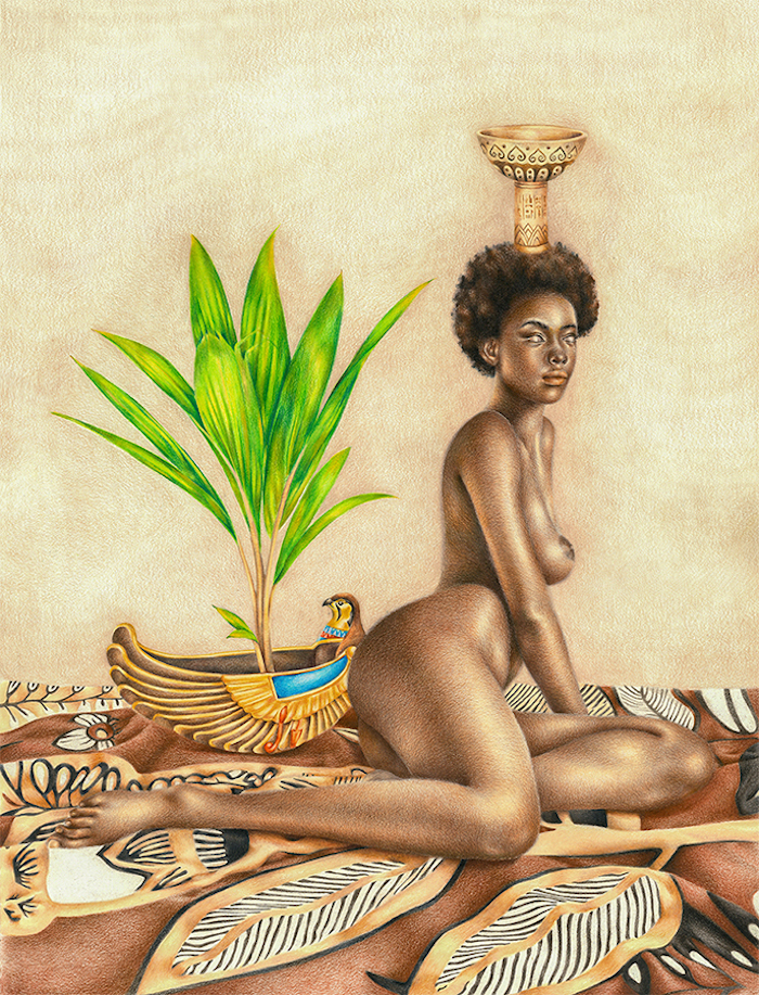 Artist Depicts Black Female Nudes As Ancient Egyptian -8733