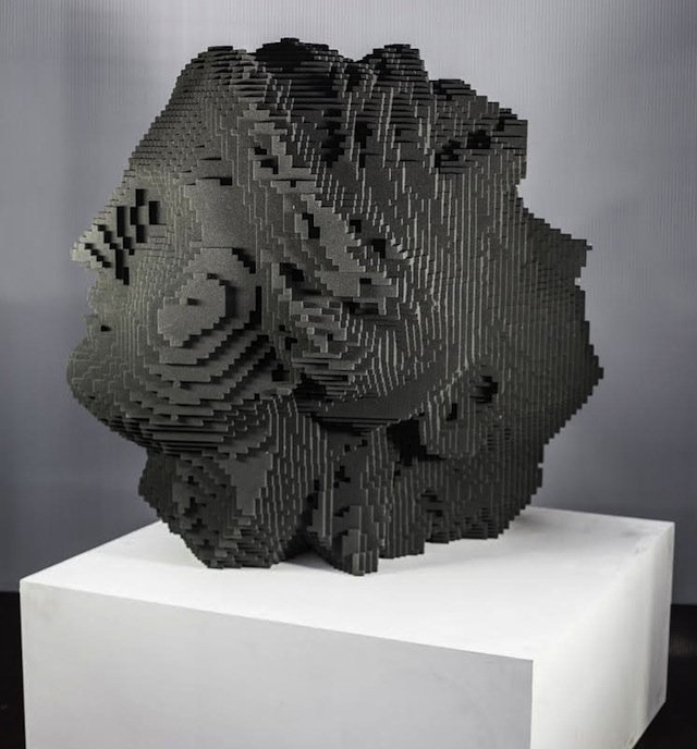 Our Work View Our Digital Print Web Projects: Miguel Chevalier 3D Prints The Enormous Head Of A Roman