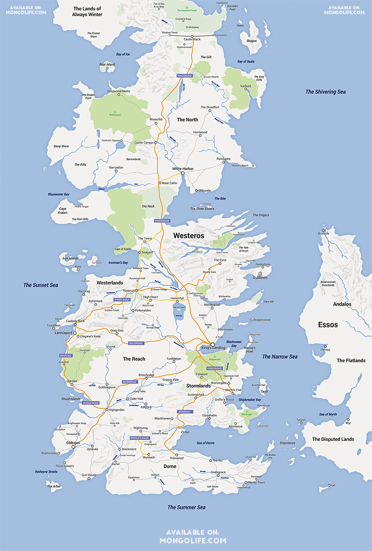 The 39 game of thrones 39 google map makes navigating westeros for Goodl