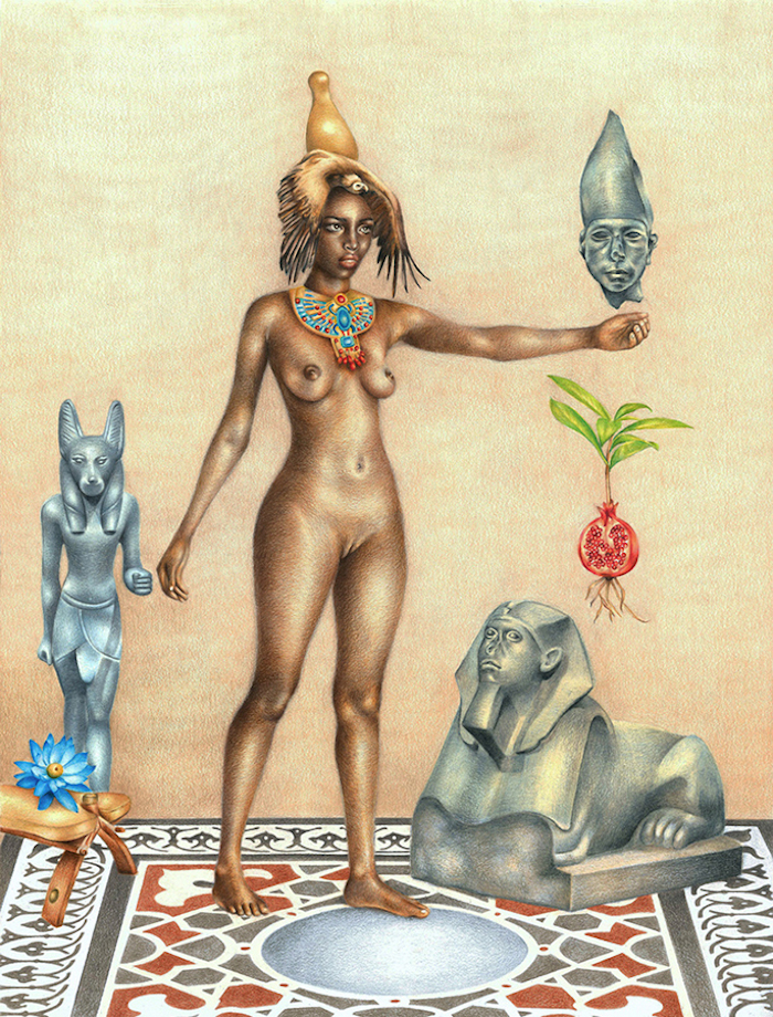 Artist Depicts Black Female Nudes As Ancient Egyptian -8430