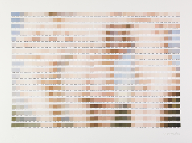 Nick Smith, Three Graces, 779 color chip collage. Image courtesy of the artist.