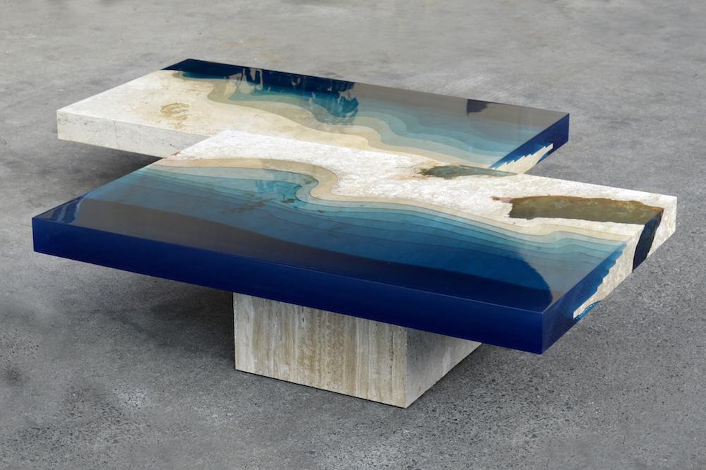 A River Runs Through These Marble Amp Resin Tables The