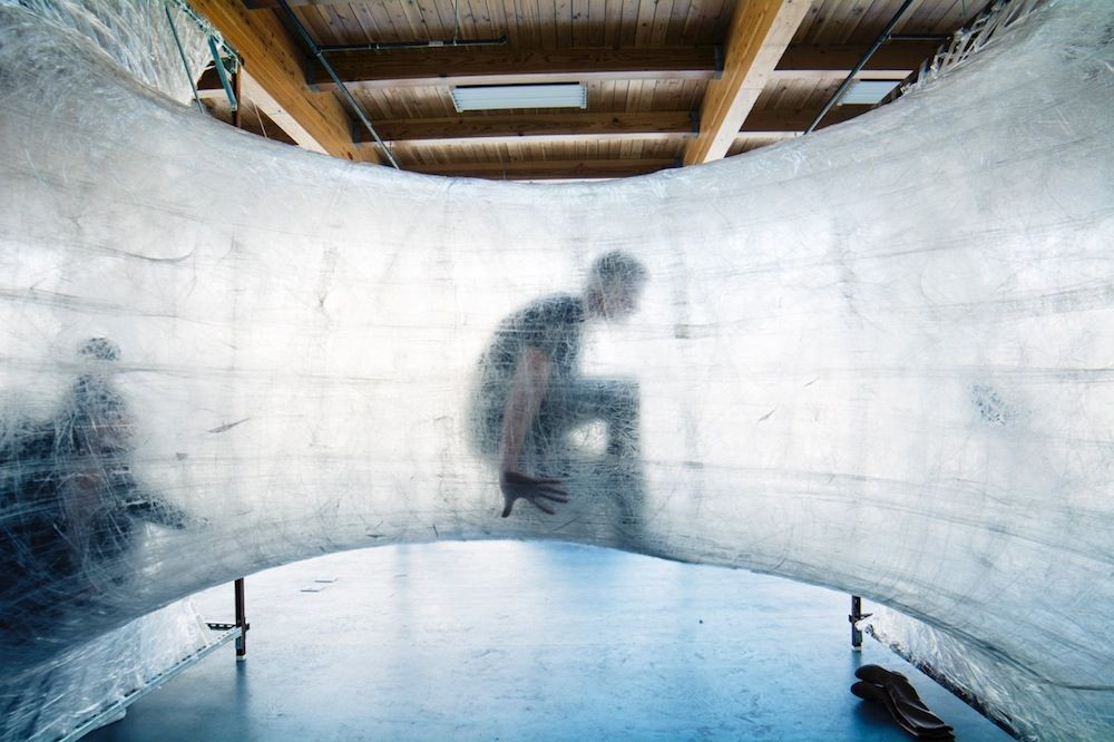Get STUCK in a Giant Web Made of Packaging Tape