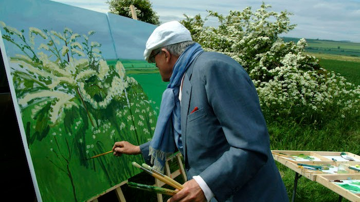 Tipos desnudos y piscinas en el documental sobre David Hockney