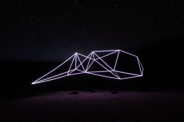 Minimalist Light Sculpture Captivates the Great Outdoors